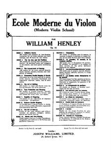 Modern Violin School, Op.51: livro II by William Ernest Henley