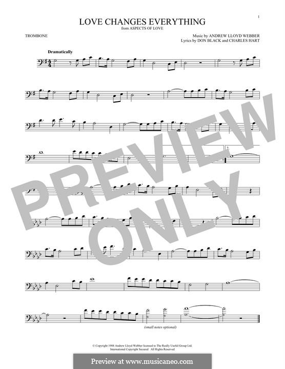 Love Changes Everything: para trombone by Andrew Lloyd Webber
