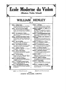 Modern Violin School, Op.51: livros IV by William Ernest Henley