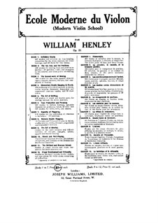 Modern Violin School, Op.51: livro V by William Ernest Henley