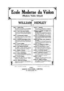Modern Violin School, Op.51: Livro VII by William Ernest Henley