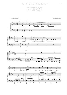 Pierrot: Para vocais e piano by Claude Debussy