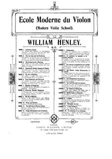Modern Violin School, Op.51: livro VIII by William Ernest Henley