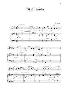 Si t'intendo: For soprano and piano by Antonio Caldara