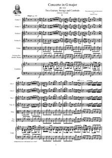Concerto for Two Mandolins and Strings in G Major, RV 532: Score, parts by Antonio Vivaldi