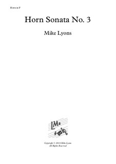 Horn Sonata No.3: Complete by Mike Lyons