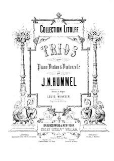 Piano Trios, Op.83, 93, 96: Piano Trios by Johann Nepomuk Hummel