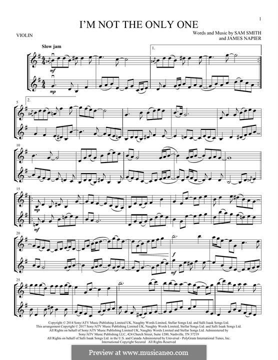 I'm not the Only One: para dois violinos by Samuel Smith, James Napier