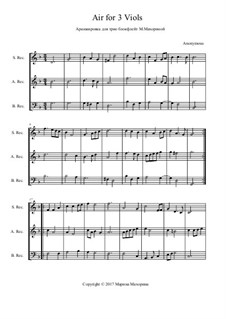 Air for 3 Viols: Air for 3 Viols by Unknown (works before 1850)