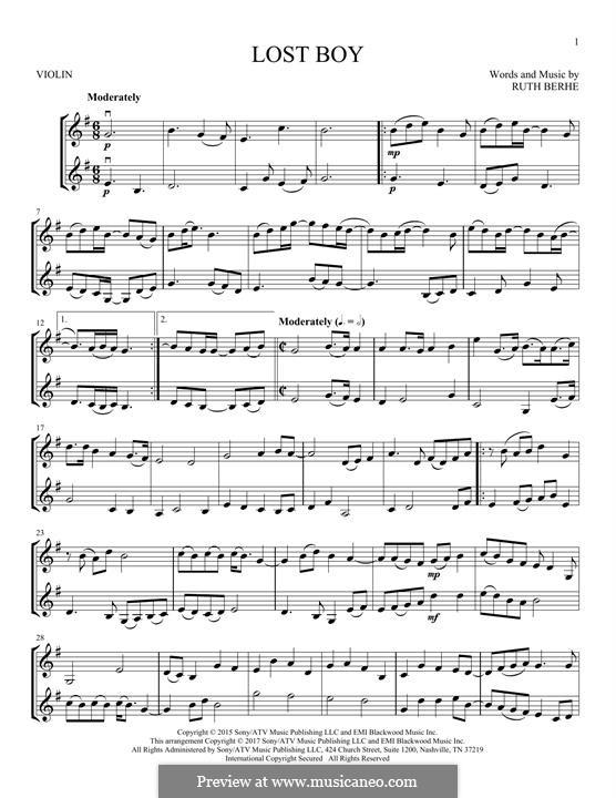 Lost Boy: para dois violinos by Ruth Berhe
