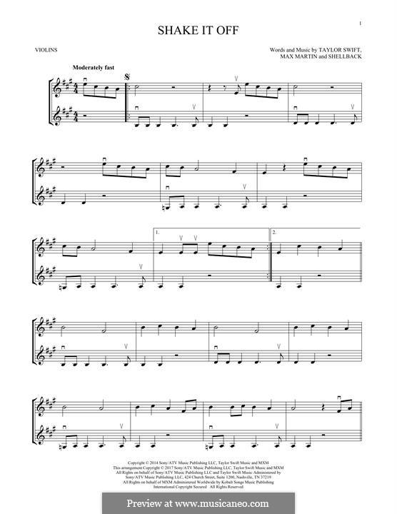 Shake it Off: para dois violinos by Shellback, Max Martin, Taylor Swift