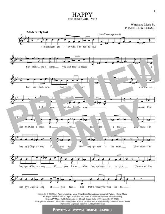Happy: melodia by Pharrell Williams