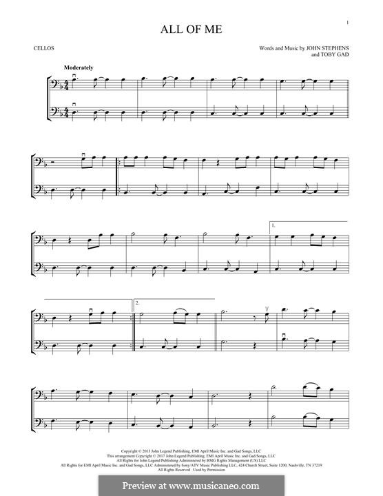 All of Me: para dois violinos by John Stephens, Tobias Gad