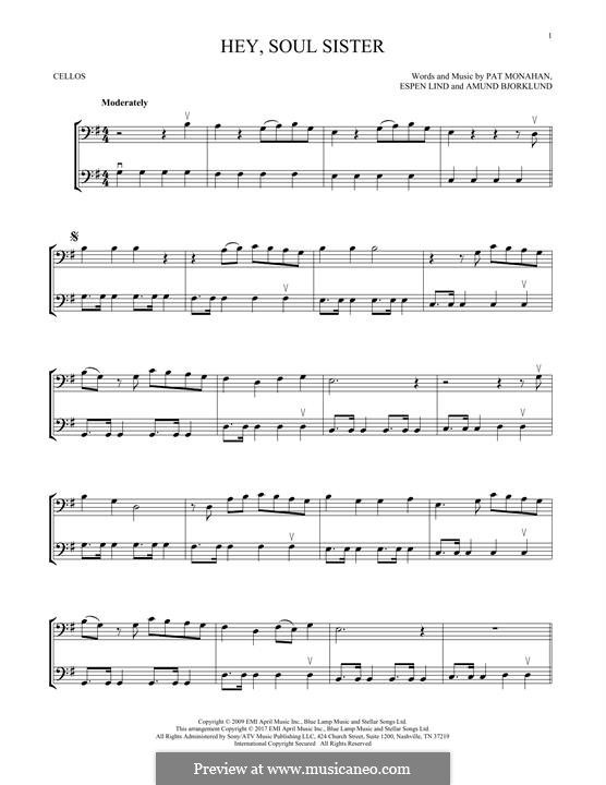 Hey, Soul Sister (Train): para dois violinos by Amund Bjorklund, Espen Lind, Patrick Monahan