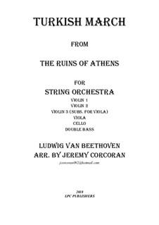 Turkish March: para orquetra de cordas by Ludwig van Beethoven