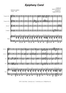 Epiphany Carol: For brass quartet and piano by folklore, John H. Hopkins Jr.