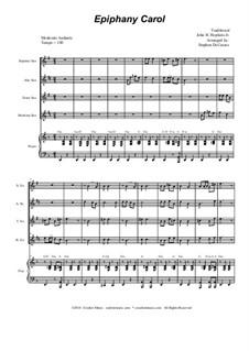 Epiphany Carol: For saxophone quartet and piano by folklore, John H. Hopkins Jr.
