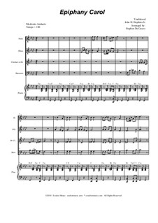 Epiphany Carol: For woodwind quartet and piano by folklore, John H. Hopkins Jr.