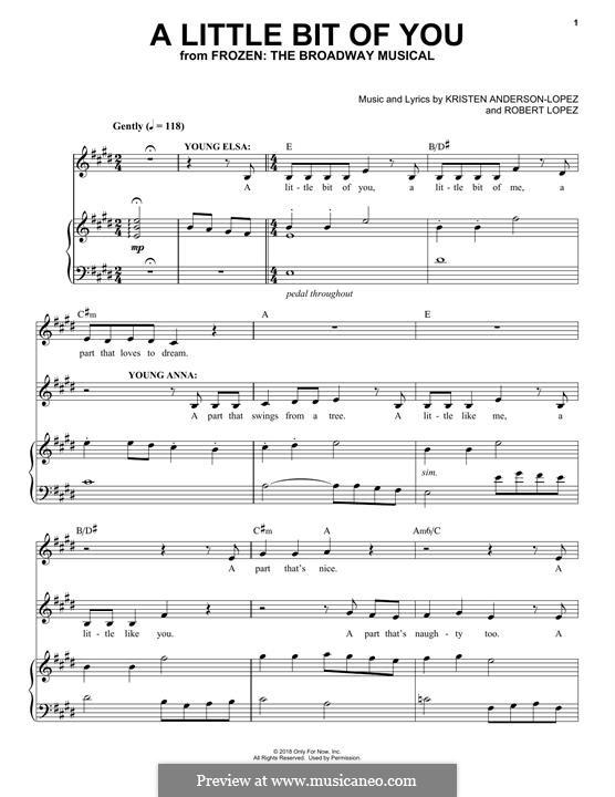 Frozen: The Broadway Musical: A Little Bit Of You by Robert Lopez, Kristen Anderson-Lopez