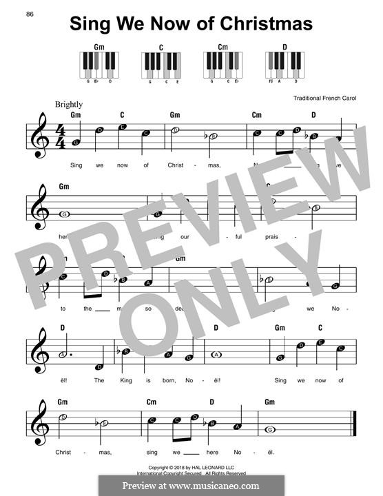 Sing We Now of Christmas (from Morning Star): Facil para o piano by folklore