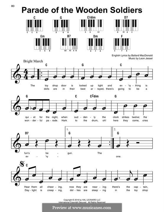 Parade of the Wooden Soldiers: Facil para o piano by Leon Jessel