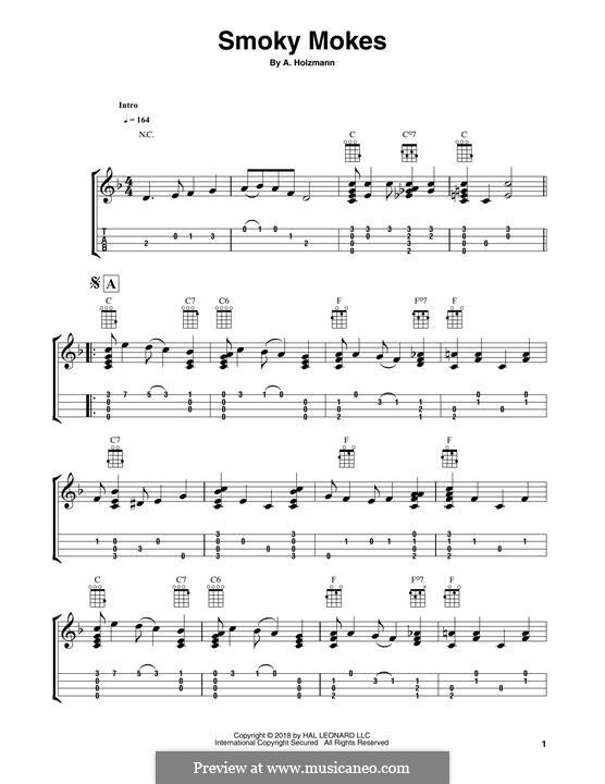 Smoky Mokes: para ukulele by Abe Holzmann