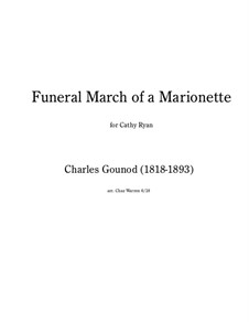 Funeral March of Marionette: Para quinteto de metais by Charles Gounod