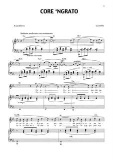 Core 'ngrato: For tenor and piano by Salvatore Cardillo