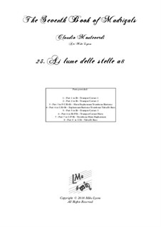 Book 7 (Concerto), SV 117–145: No.23 Al lume delle stelle a8 by Claudio Monteverdi