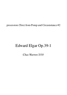March No.2: For brass quintet (chop friendly version) by Edward Elgar