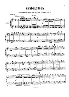 Eight Easy Pieces: Book II – piano I part by Felix Mendelssohn-Bartholdy, Ludwig van Beethoven