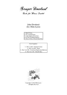 Semper Dowland: para quarteto de bronze by John Dowland