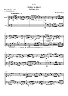 Fugue a-moll: For viola and cello by Andrei Fridman
