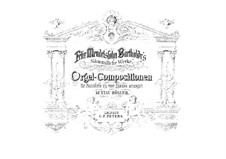 Three Preludes and Fugues, Op.37: para piano de quadro mãos by Felix Mendelssohn-Bartholdy
