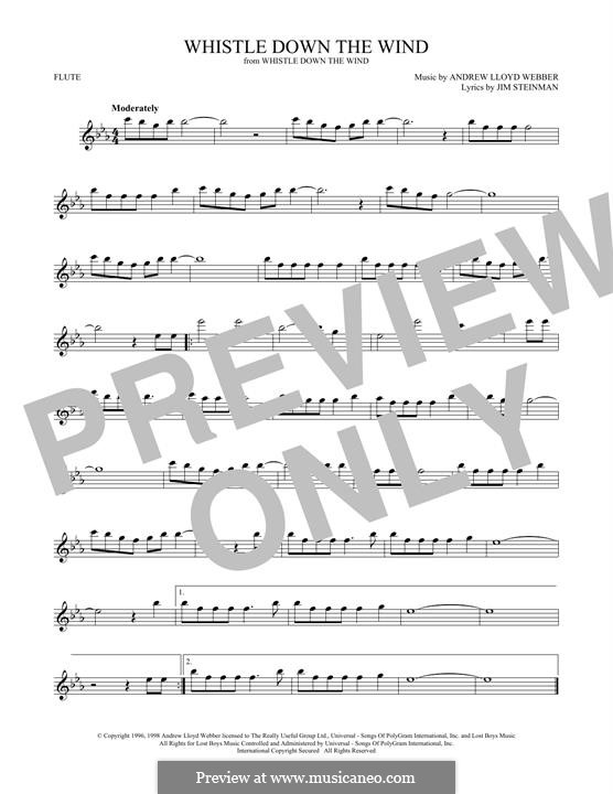 Whistle Down the Wind (from Whistle Down the Wind): para flauta by Andrew Lloyd Webber