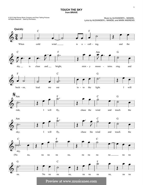 Touch the Sky (Julie Fowlis): melodia by Alexander L. Mandel
