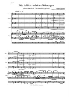 A German Requiem, Op.45: Movement IV, for string quartet and organ by Johannes Brahms