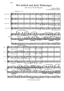 A German Requiem, Op.45: Movement IV, for clarinet quartet and organ by Johannes Brahms