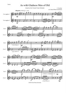 As with Gladness Men of Old: Variations, for cor anglais duo by Conrad Kocher