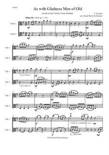 As with Gladness Men of Old: Variations, for viola duo by Conrad Kocher