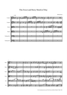 This Sweet and Merry Month of May: For string orchestra – score, parts by William Byrd