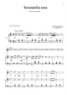 Serenatella nera: For tenor and piano by Eduardo di Capua, Salvatore Gambardella