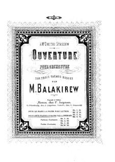 Overture on Three Russian Themes: para dois pianos para oito mãos - piano parte II by Mily Balakirev