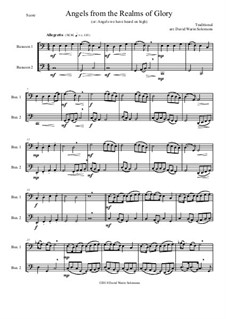 Angels from the Realms of Glory: Variations, for bassoon duo by folklore
