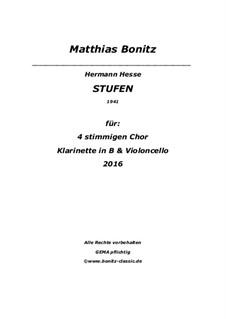 Stufen: SATB, Cello und Klarinett by Matthias Bonitz