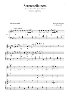 Serenatella nera: For tenor, flute and piano by Eduardo di Capua, Salvatore Gambardella