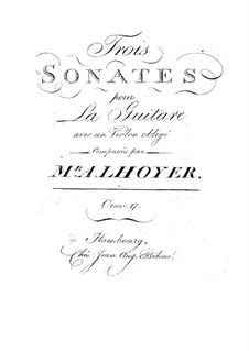 Three Sonatas for Guitar and Violin, Op.17: Three Sonatas for Guitar and Violin by Antoine de Lhoyer