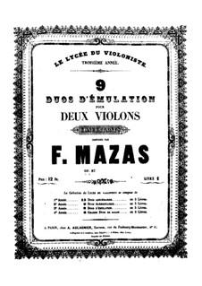 Nine Duets for Two Violins, Op. posth.87: Nine Duets for Two Violins by Jacques Féréol Mazas