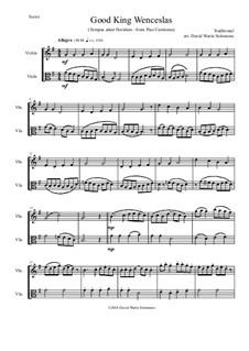 Good King Wenceslas: Variations, for violin and viola by folklore