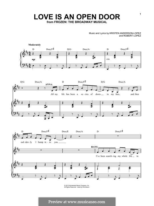 Frozen: The Broadway Musical: Love Is An Open Door by Robert Lopez, Kristen Anderson-Lopez